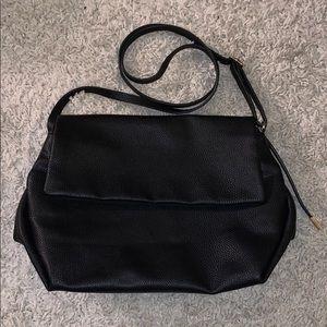 H & M Black Leather Crossbody Bag